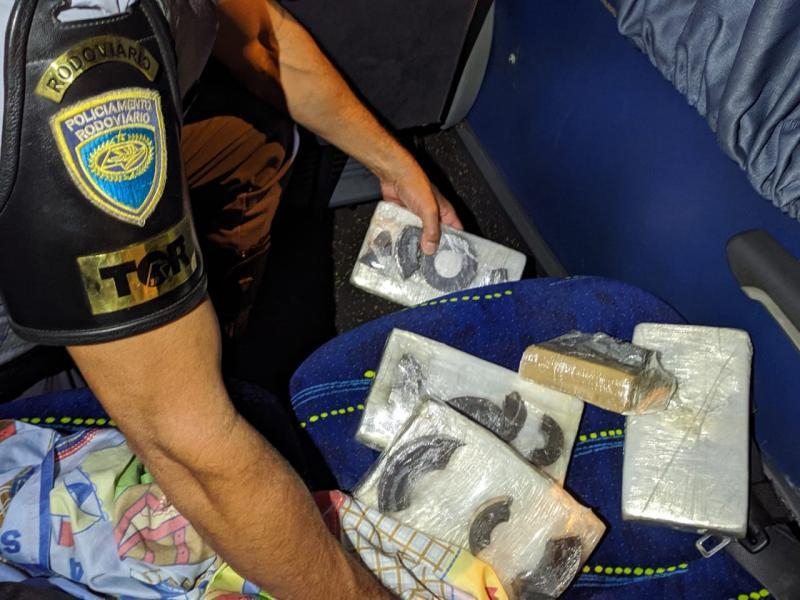 Polícia Militar Rodoviária - A origem e o destino da droga não foram informados