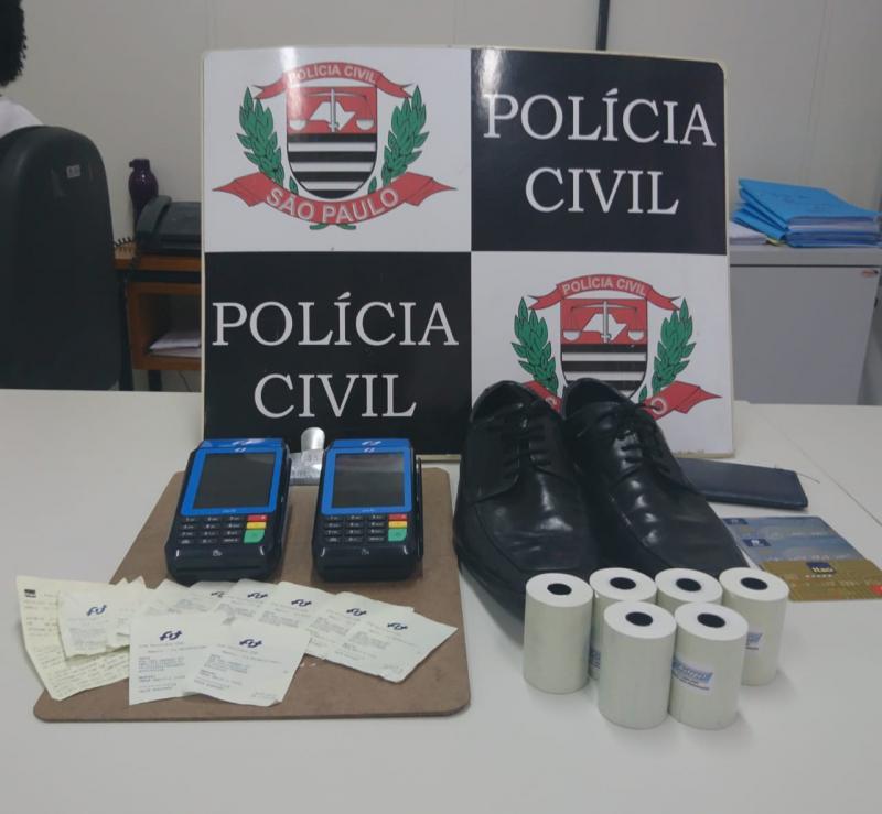 Polícia Civil - Materiais foram apreendidos no hotel onde estava hospedado