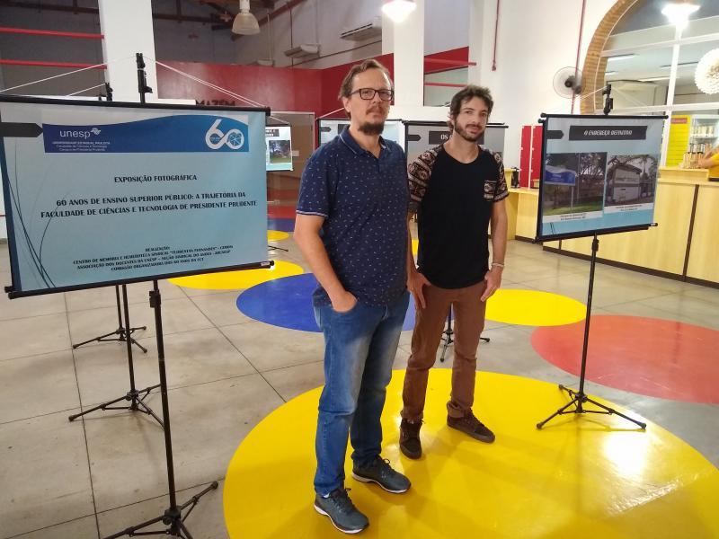Marco Vinicius Ropelli: Ricardo e Ian são responsáveis pela exposição que celebra os 60 anos da FCT-Unesp