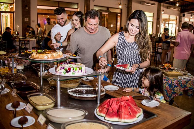 Restaurante do Terra Parque Eco Resort, em Pirapozinho, a 10 minutos de Presidente Prudente
