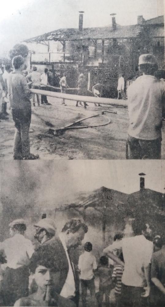 Foto: U Incêndio em usina de asfalto, em 1969