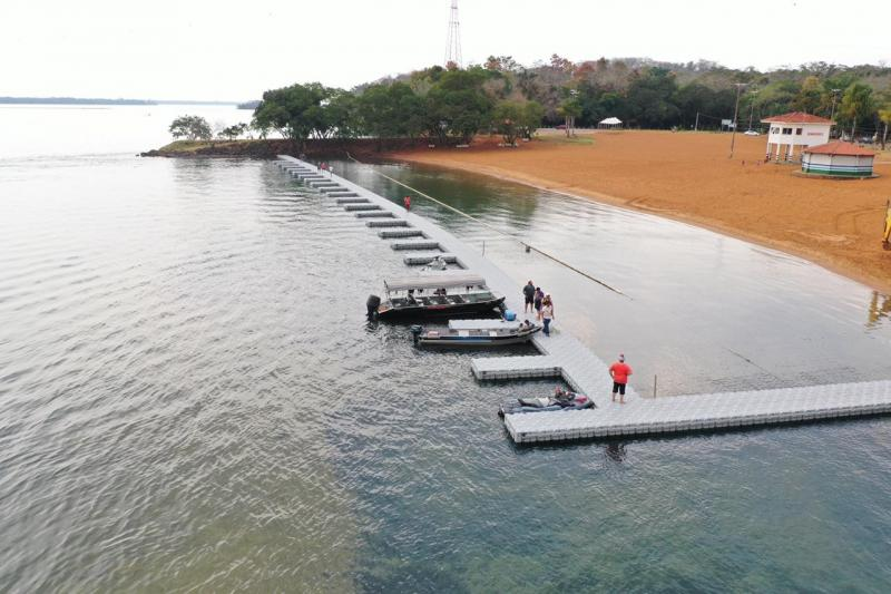 Kennedy Gabriel:Espaço fica no Rio Paraná, na Prainha do Balneário Municipal para turistas, moradores e pescadores