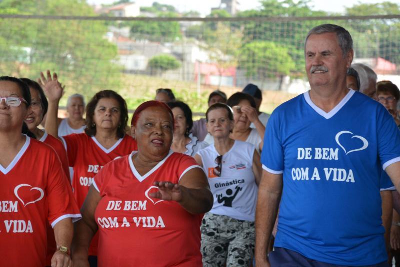 Cedida/Marcos Sanches - Em busca de qualidade de vida, participantes se divertiram em diferentes modalidades