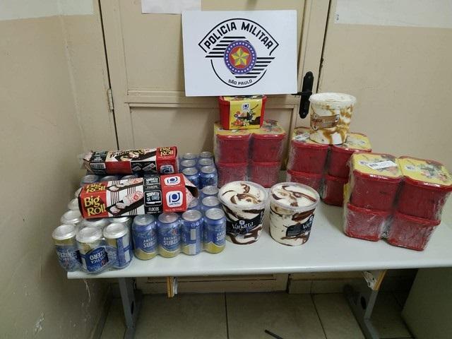 Polícia Militar - Mercadorias subtraídas foram avaliadas em R$ 361,21