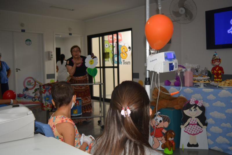 Cedida/Santa Casa - Contação de histórias e decoração especial fizeram parte das atrações