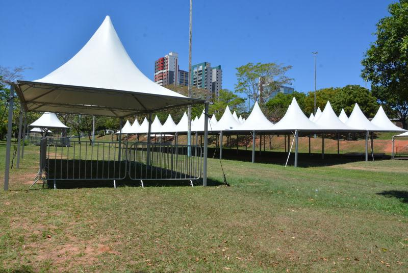Marcos Sanches/Secom - Estrutura já está montada para o evento, que aguarda mais de oito mil pessoas neste feriado