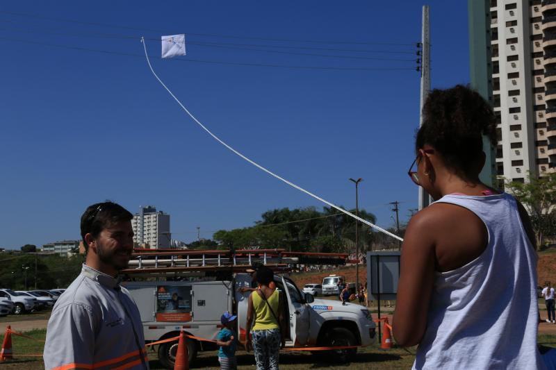 Jean Ramalho - Simulador de choque chamou atenção dos participantes no local