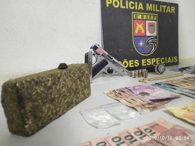 Polícia Militar – Materiais foram apreendidos e encaminhados à Polícia Civil