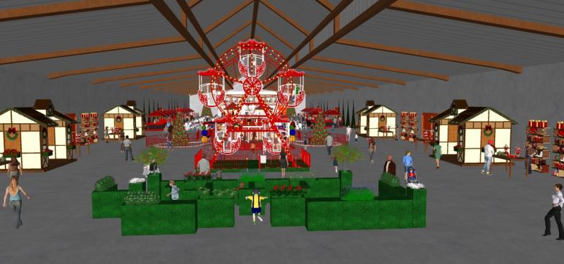Divulgação - Protótipo de como ficará a Vila Natal, que será construída no IBC