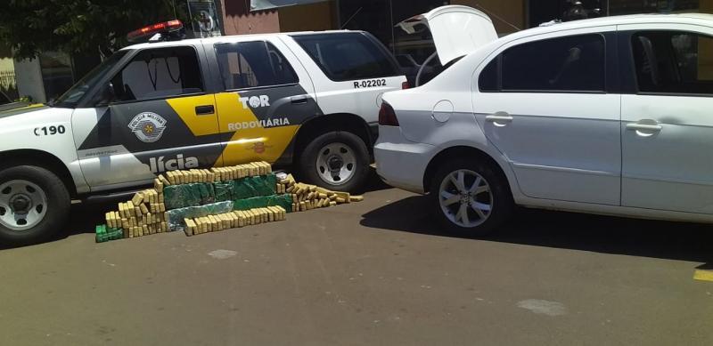 Polícia Militar Rodoviária - Durante vistoria veicular, foi localizada grande quantidade de maconha