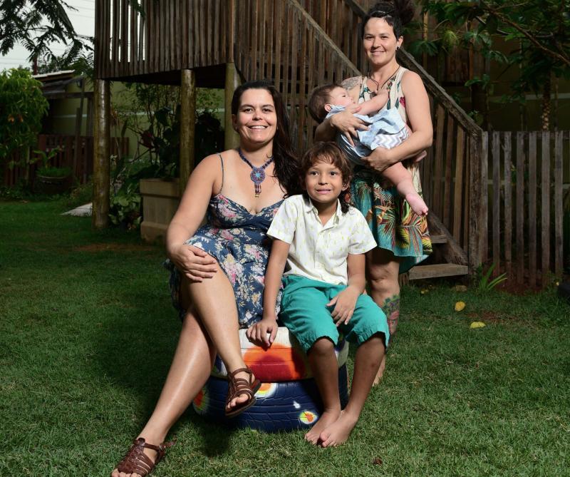 Paulo Miguel - Aline, Natália, Noé e Amora exemplificam o conceito moderno de família