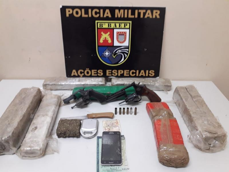 Polícia Militar – Material localizado no veículo foi apreendido e apresentado na Central de Flagrantes