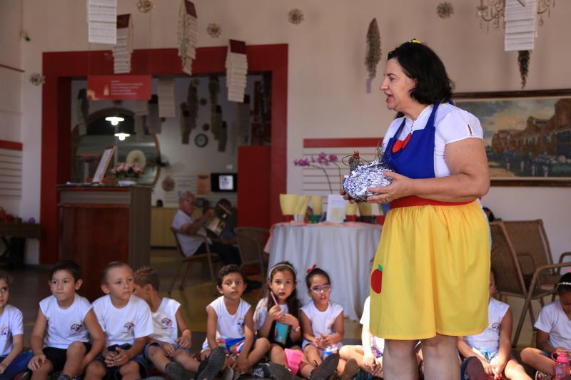 Jean Ramalho:Exposição, que segue até dia 31, incentiva a leitura, além da contação de histórias