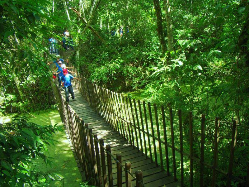 Cedida - Visitantes fazem trilhas guiadas ou autoguiadas no Morro do Diabo