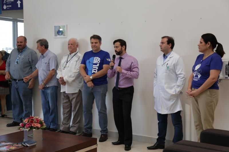 Jean Ramalho - Dirigentes e médicos do HRCPP se reuniram na recepção para abertura do Novembro Azul