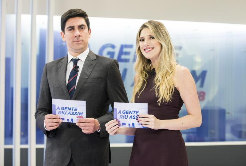 Adnet e Calabresa durante o 'A Gente Riu Assim', em 2018 / Victor Pollak / TV Globo