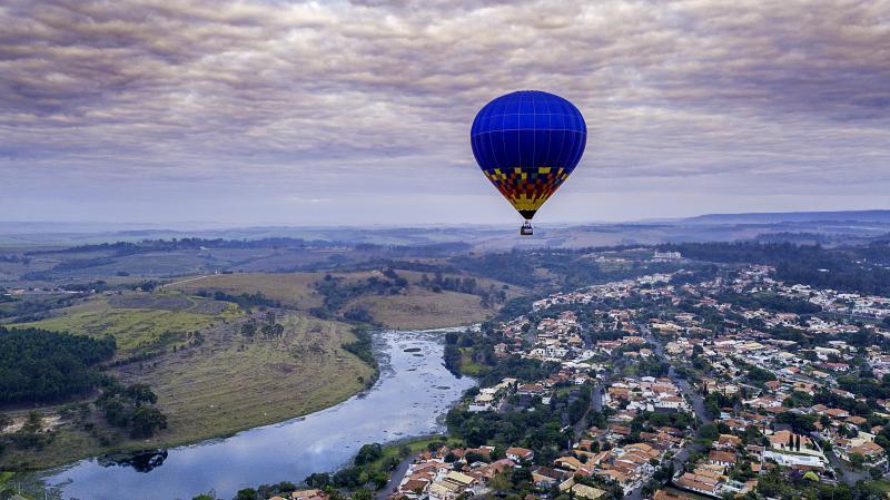 Cedida: Balonismo em São Pedro oferece vista privilegiada de uma das mais belas paisagens do Estado de São Paulo