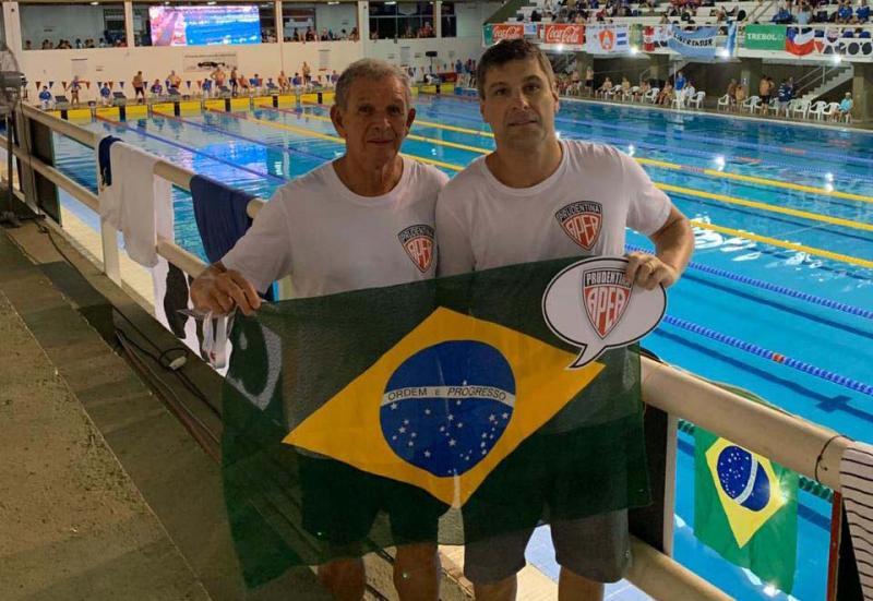 Cedida - Fran e Dilor, prudentinos representam a Apea, em competição em Assunção, no Paraguai