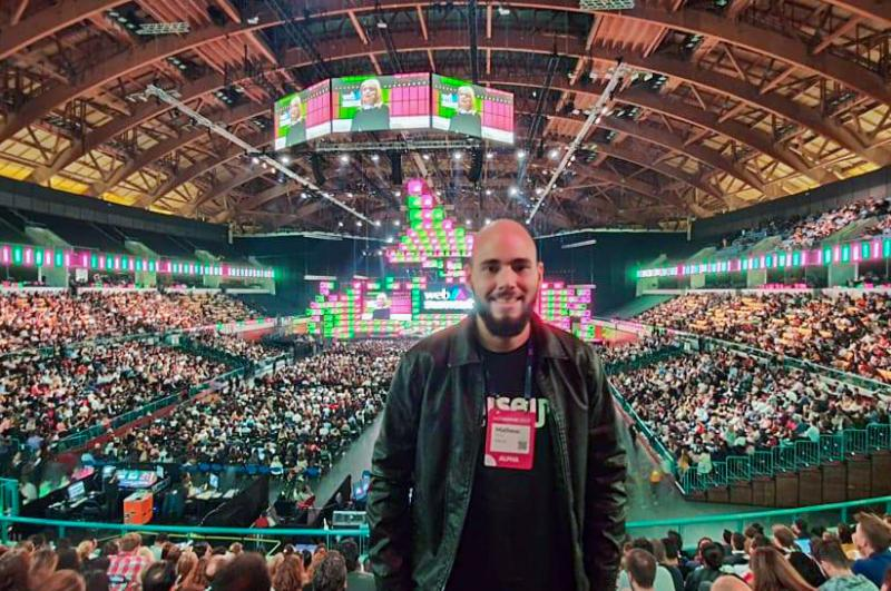 Cedida - Matheus, idealizador da Raiseup, levou projeto para a Web Summit