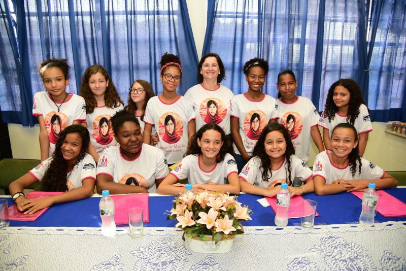 Paulo Miguel:Grupo que pesquisou a biografia de Malala era inteiramente formado por meninas, inicialmente somente com alunas prioritárias
