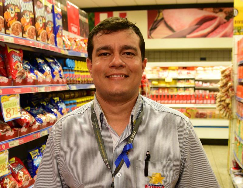 Paulo Miguel - Bruno começou como segurança e é subgerente de uma unidade dos Supermercados Estrela