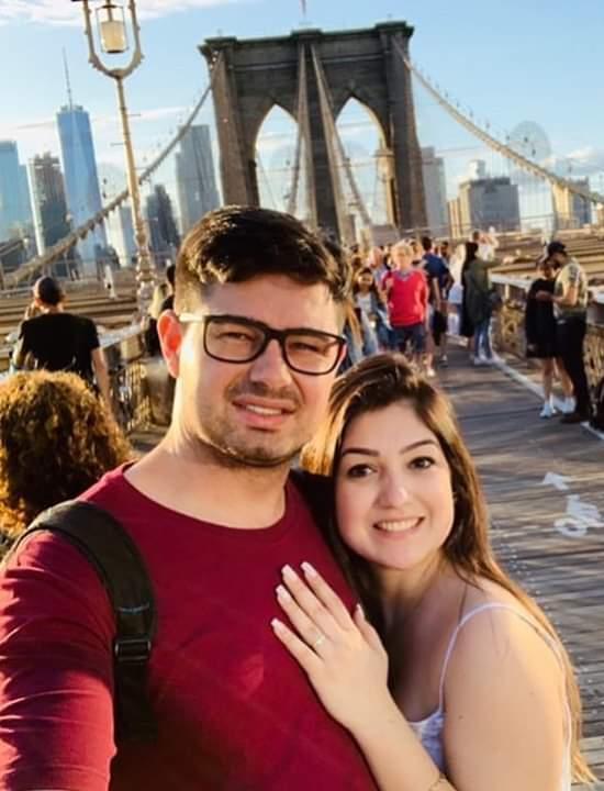 Felipe Vanso e Carolina Rocha curtiram a lua-de-mel em Nova York, viagem organizada pela agência Vencestur