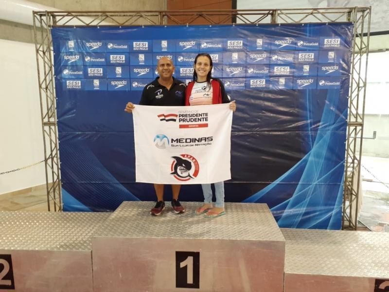 Cedida/Pépe - Pépe acredita no potencial de Isadora e aposta que ela será uma das grandes nadadoras do time