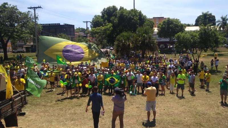 Cedida - Protestos ocorreram no Parque do Povo em Prudente
