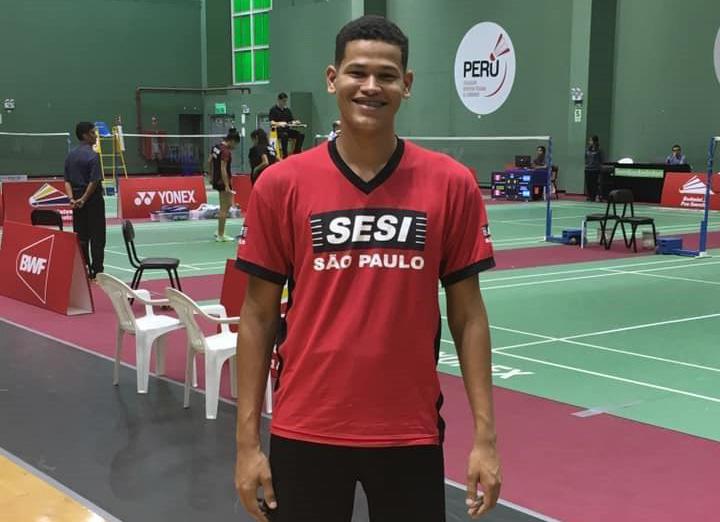 Arquivo/Sesi -  Desde a 1ª aula de badminton, em 2013, Caio não parou mais