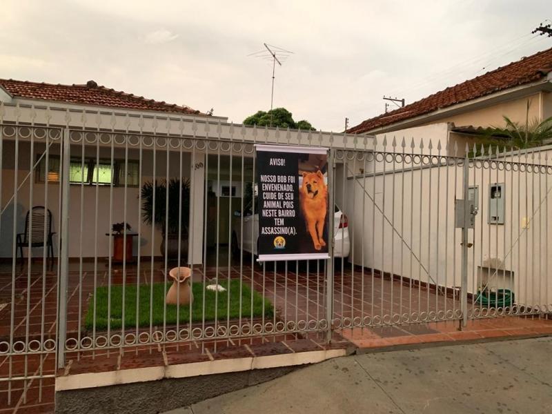 Cedida - Em banner, família expôs indignação com a morte de Bob