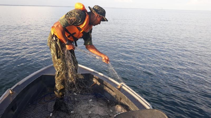 Polícia Militar Ambiental - Homens confirmaram a utilização de uma embarcação e cinco redes às margens do Rio Paraná