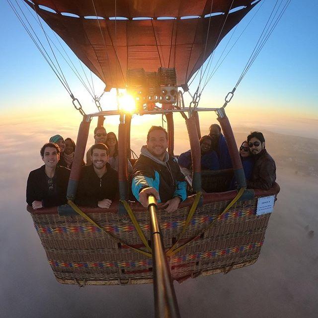 Cedida:Balões só levantam voo com no mínimo 10 pessoas