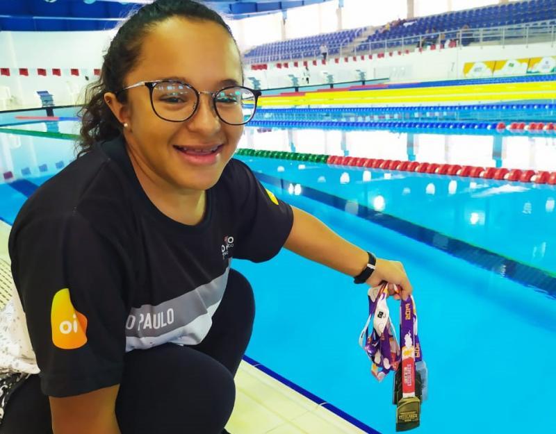 Cedida / Micheline Cardoso - Dayara conquistou 3 ouros e 3 pratas na 13ª edição do evento