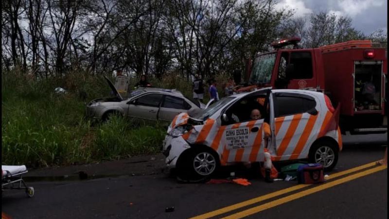 Polícia Militar Rodoviária - Colisão ocorreu no km 576, em Osvaldo Cruz