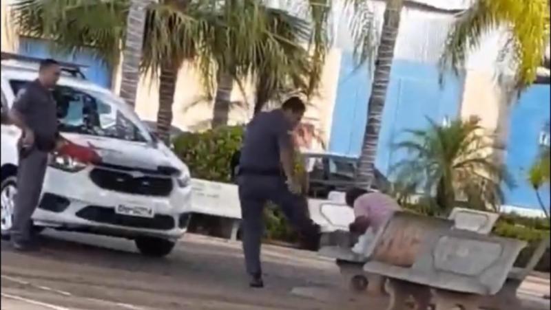 Reprodução - Caso envolveu um policial militar, um cidadão e um cachorro em Junqueirópolis