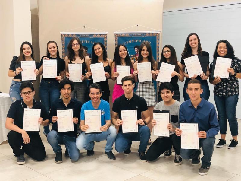 Os formandos do CNA de 2019 em Presidente Prudente