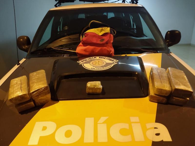 Polícia Militar Rodoviária  - Droga estava dentro de bolsa, no bagageiro interno do veículo