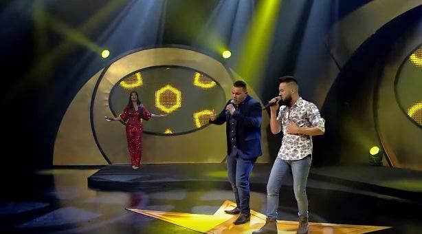Reprodução/TV Aparecida:Matheus & Lorenzo durante participação no reality show