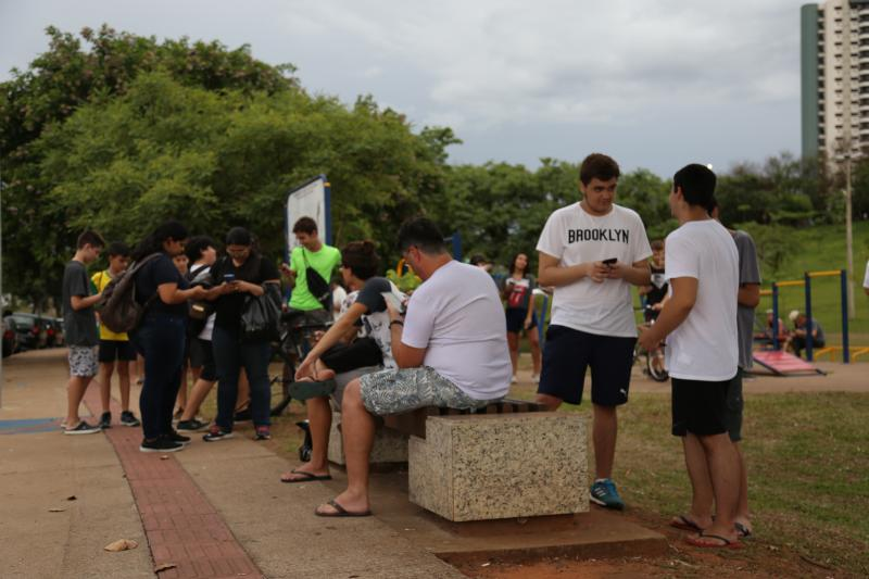 Jean Ramalho:Grupo se reúne às quartas-feiras no Parque do Povo para a caça ao divertimento