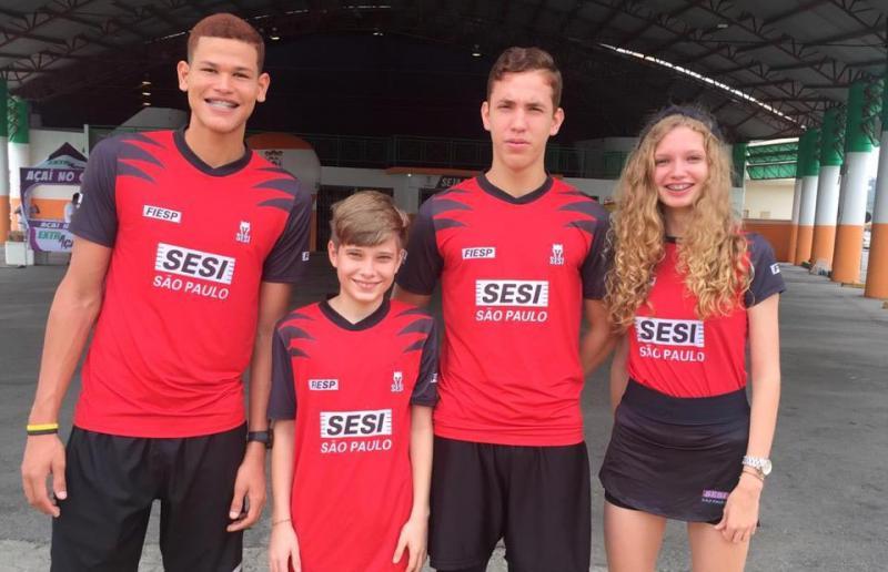Cedida - Equipe Sesi-SP conta com Caio, Vinicius, Rafael e Pietra