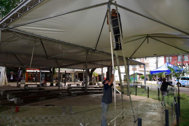 Paulo Miguel:Servidores preparam Teatro de Arena para concertos natalinos