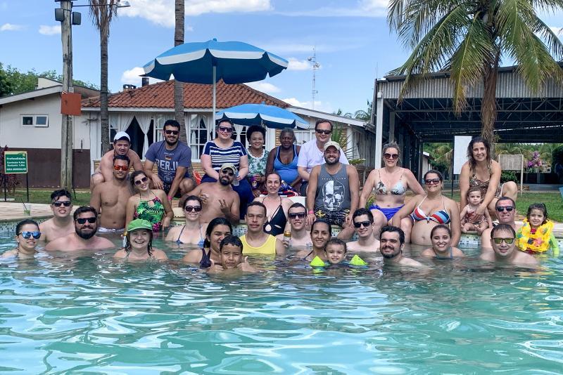 Membros da diretoria e funcionários da OAB Prudente, durante confraternização no Campo Belo Resort