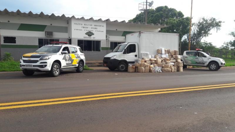 Polícia Militar Rodoviária - Veículo foi abordado na Rodovia Arlindo Bettio, em Rosana
