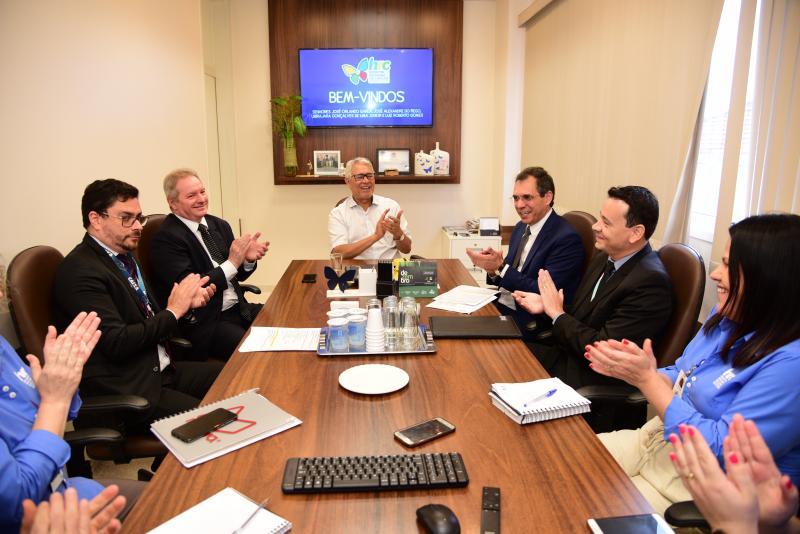 Paulo Miguel - Na reunião para a assinatura estavam presentes representantes da Caixa, do MPF, MPE e funcionários do HRCPP