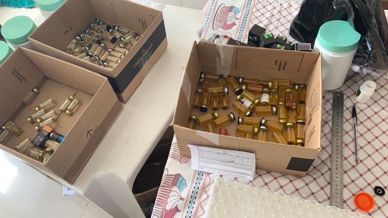 Cedida: Polícia Federal  |  Produtos estavam em um laboratório clandestino em Prudente