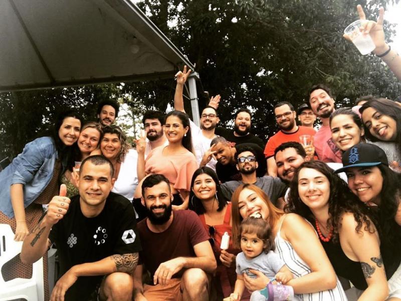 Confraternização do Grupo RLP, Raro e Luz Própria na Chácara Cinzel