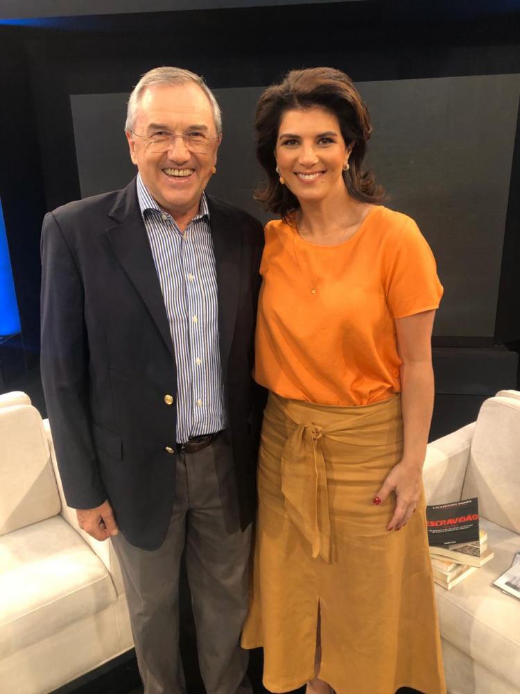 """Divulgação Rede TV! - Laurentino Gomes, jornalista e escritor, é o convidado de amanhã do """"Mariana Godoy Entrevista"""""""