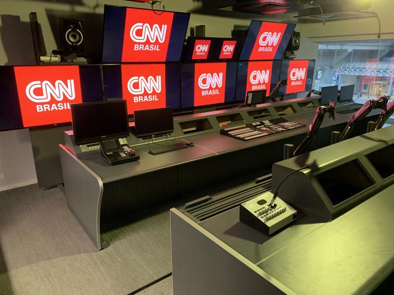 Divulgação - A Central técnica da CNN, em fase final de instalação