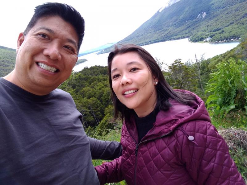 Sergio e Silvia Shibukawa foram a Ushuaia, a cidade mais austral do planeta, no cone sul da Argentina, pela Koemtur