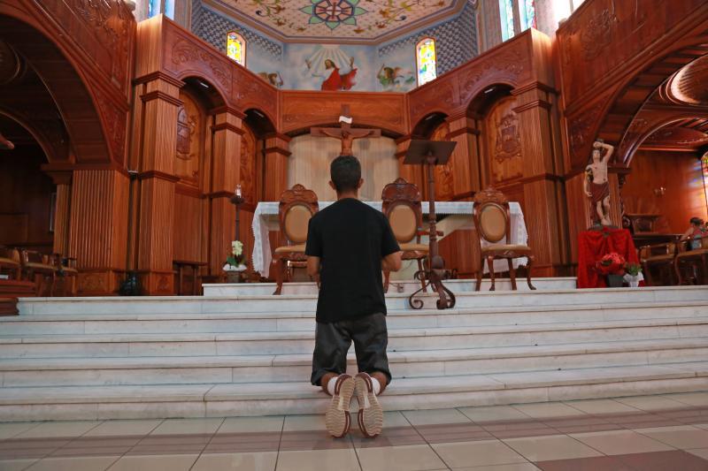 Weverson Nascimento:Fiéis dedicaram o dia para momentos de oração ao mártir
